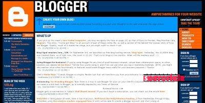 Blogger in 2000
