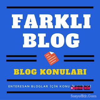 Blog Kurmak İstiyorsunuz Ama Konu Mu Bulamıyorsunuz O Zaman Buyrun Yazımıza