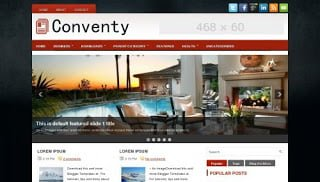 conventy blogger template