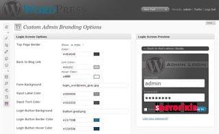custom admin branding admin plugins for wordpress
