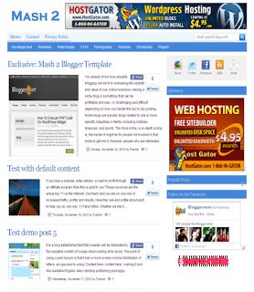mash2 teması, mash 2 blogger themes, blogger themes, mashable blogger theme