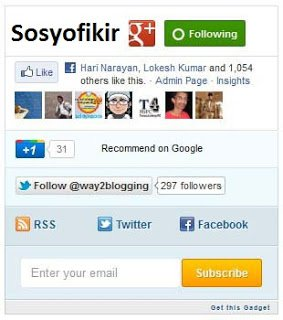 mashable style social subscription widget for blogger blogspot preview