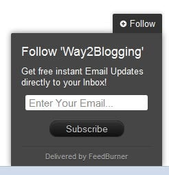 static follow by email pop out widget for blogger blogspot preview