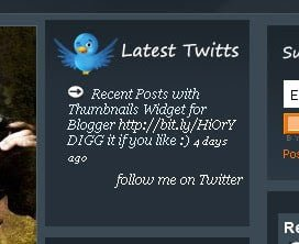 Latest Twits widget