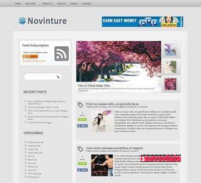 Novinture Blogger Teması 3