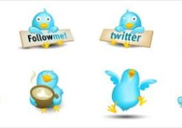 cute twitter vector icons1