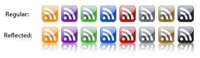 Gloss style RSS Icons