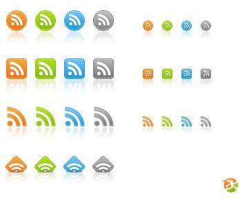 RSS Feed Icons with 4 color variants