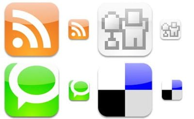 Glossy Web 2.0 RSS Icons