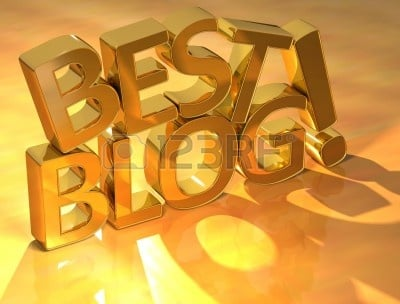 10426955 best blog gold text over yellow background