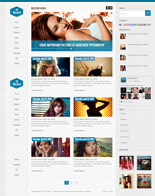 rocket blogger template