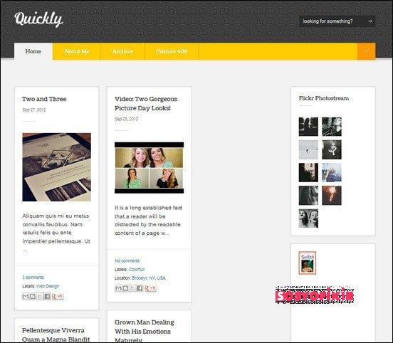 20 Adet Kaliteli Blogger Teması 2013 5