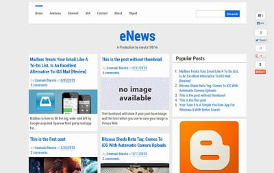 eNews E28093 Free Responsive Blogger Template