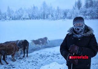 Dünyanın En Soğuk Köyü Rusya'da. İçiniz Ürperecek. 2