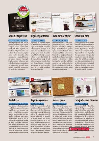 Sosyofikir Chip Dergisi Mart Sayısında 3