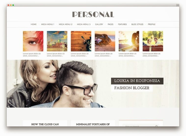 personal multipurpose blog theme