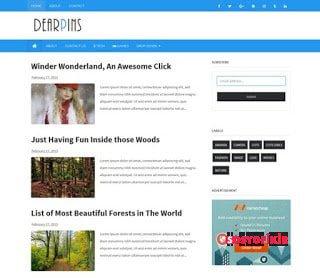 dearpins free responsive blogger template