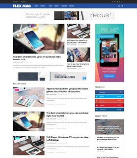flexmag free blogger template