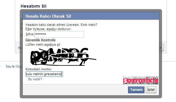 Facebook hesabını kalıcı olarak silme yöntemi adım adım. 4