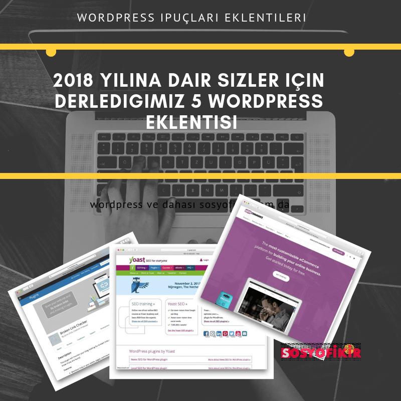 2018 yilina dair sizler icin derledigimiz 5 WordPress Eklentisi